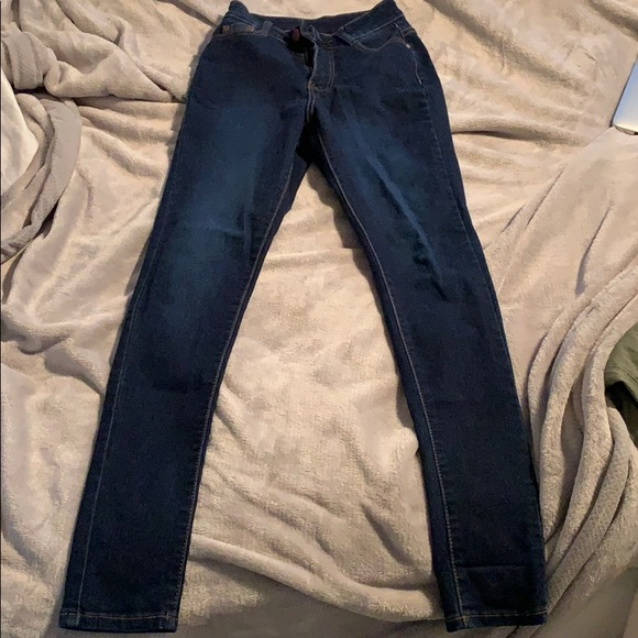 Dark wash fashion nova skinny jean